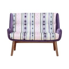 We were entranced by the color and pattern featured on the Briatico Sofa. A little bit bohemian and a whole lot spectacular, this small sofa features a wood frame with a rich, textured purple upholster...  Find the Briatico Sofa, as seen in the Bohemian Sanctuary Collection at http://dotandbo.com/collections/bohemian-sanctuary?utm_source=pinterest&utm_medium=organic&db_sku=112795