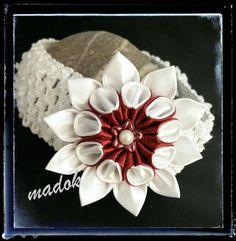 Weiteres - Haarband / Stirnband Blüte *Kanzashi* - ein Designerstück von Made-by-Dori bei DaWanda