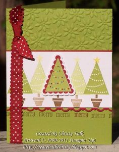 Merry Christmas by StampinChristy - Cards and Paper Crafts at Splitcoaststampers