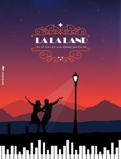 LA LA LAND ILLUSTRATION POSTER BY OMAR BADR