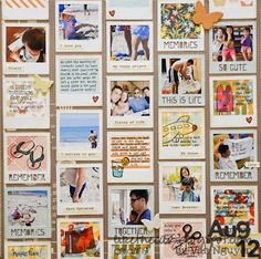"""Take 12 Layout for August 12 using only the Xyron 2.5"""" Sticker Maker as adhesive!  By DT Member Van Nguyen."""
