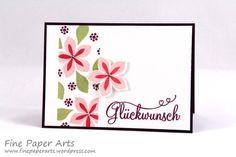 Glückwunschkarte mit Blütenbordüre