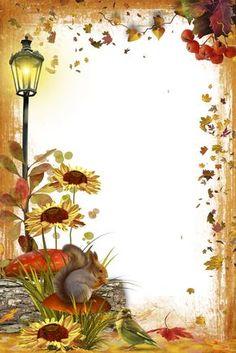 Adorable for autumn stationery! Boarder Designs, Page Borders Design, Frame Background, Paper Background, Picture Borders, Molduras Vintage, Boarders And Frames, Birthday Frames, Christmas Frames