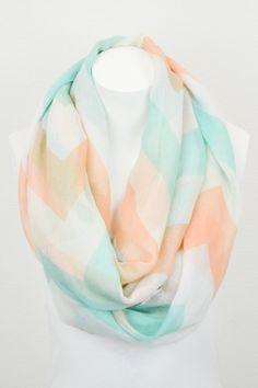 Piace Boutique - Large Chevron Pastel Infinity Scarf, $14.00 (http://www.piaceboutique.com/large-chevron-pastel-infinity-scarf/)
