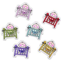 Funnytoday365 Mixed 50Pcs Cartoon Style Colorful Wood Sewing Decorative Buttons Scrapbooking Baby Bed Pattern Jewelry Decoration Diy 31X30Mm *** Read more reviews of the product by visiting the link on the image.