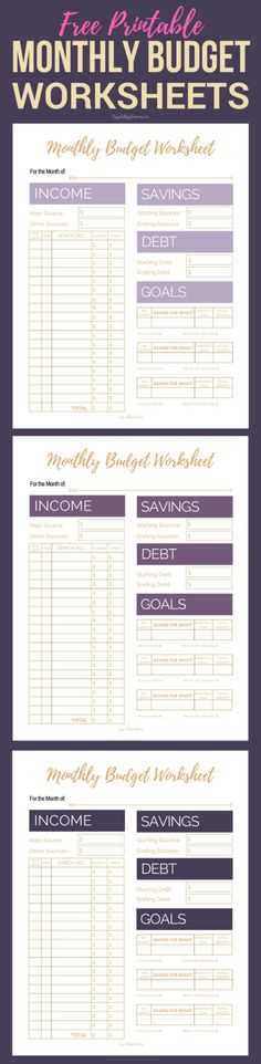 Get Your Finances In Order With These Editable Printable Budget
