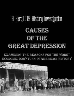 What were the major causes of the Great Depression? When the stock market crashed in October 1929, the debate about what actually caused the Great Depression was just beginning. Using sources written by economists and historians, students will examine three of the major underlying reasons for America's worst economic downturn. http://www.teacherspayteachers.com/Product/Causes-of-the-Great-Depression-Common-Core-Research-History-Lesson-1335729