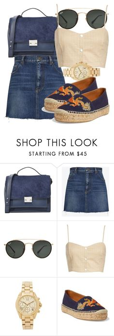 """""""Untitled #4972"""" by beatrizvilar on Polyvore featuring Loeffler Randall, Yves Saint Laurent, Ray-Ban, Leith, Michael Kors and Ralph Lauren #relojes #michaelkors Relojesecuador #relojecuador #reloj"""