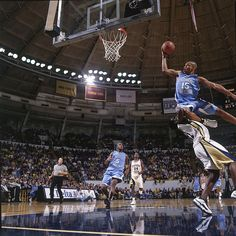 North Carolina guard Vince Carter drives strong to the hoop during a Feb. 1998 game against Georgia Tech. Four months later, Carter would be seelcted fifth overall in the 1998 draft by Golden State, who quickly traded him to Toronto for fourth. Basketball Legends, Love And Basketball, Basketball Games, College Basketball, Basketball Players, Basketball Girlfriend, Basketball Couples, Basketball Motivation, Basketball Birthday