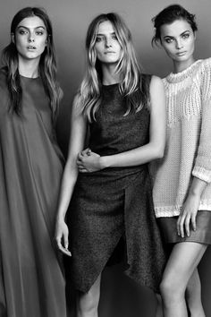 """Lone Praesto, Amanda Norgaard & Moa Aberg in """"Midnight Mingle"""" for Elle Sweden, December 2014 Photographed by: Jimmy Backius"""