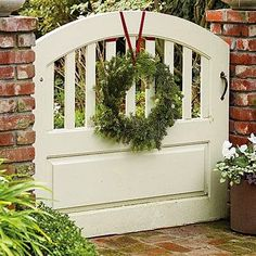 """I'm Dreaming Of A White Christmas""! I am dreaming of a welcoming gate with a beautiful wreath on it just beckoning all of my friends and..."