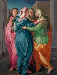 Pontormo (1494–1557) Visitation, c.1529 Oil on Wood 20.2 x 15.6 cm Church of San Francesco e Michele, Carmignano, Italy