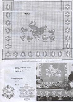Window Crochet Chicken (kitchen grandma)