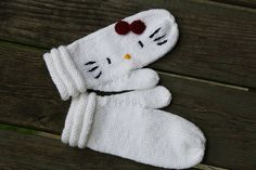 Hello Kitty Mittens by butnostephanie, via Flickr