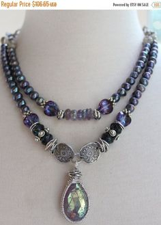 ON SALE necklace amethyst necklace spinel necklace by soulfuledges
