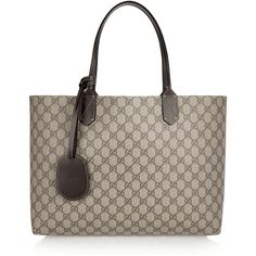 52a59f206f5480 Gucci Turnaround medium reversible leather tote ($1,060) ❤ liked on  Polyvore featuring bags,