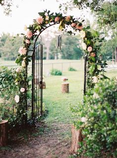 A door leading to the ceremony: http://www.stylemepretty.com/2013/08/16/texas-bb-wedding-from-brett-heidebrecht/   Photography: Brett Heidebrecht - http://brettheidebrecht.com/