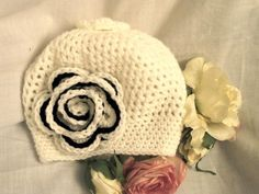 black and white crochet hat - Google Search