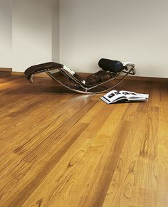Par-ky wood flooring floating engineered parquet Teak (relax chair in loft)