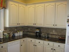 Painted and Glazed Kitchen cabinets Via Diane Lee