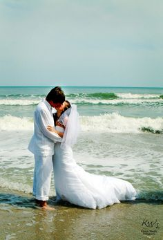 Getting married on the beach! DJ Stephen Craig is now serving the Myrtle Beach Area!  photo via Karen Webb Photography - Myrtle Beach Wedding Photographer - Trash the Dress