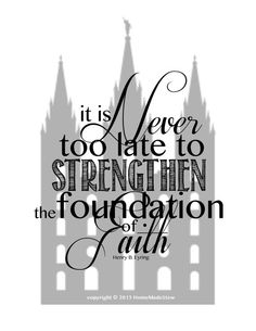 "Motivational LDS Wall Art - ""Strength"" - INSTANT DOWNLOAD"