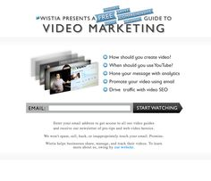 Wistia- Simple product page... Interesting idea for value prop in headline