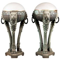 Pair of Art Deco Table Lamps Circa 1930 ~with presence! | From a unique collection of antique and modern table lamps at http://www.1stdibs.com/furniture/lighting/table-lamps/