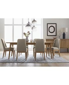 Kelso 7Pcdining Set Dining Table & 6 Side Chairs  Dining Awesome Side Chairs Dining Room Decorating Inspiration