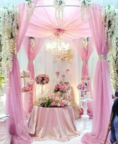 Wow. i love this! So pretty pink wedding