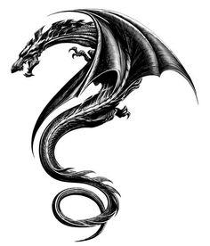 Girl Dragon Tattoo Drawing