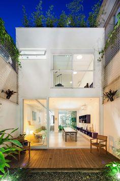 Narrow House Designs, Small House Design, Modern House Design, Minimalist House Design, Minimalist Home, Home Deco, Future House, Design Exterior, Interior Design