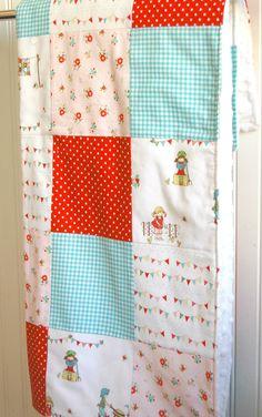The Simple Life Minky Blanket - Patchwork Minky Blanket - Baby Minky Blanket - Patchwork Baby Blanket - Riley Blake - tasha noel