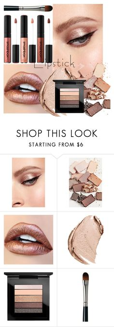 """""""METALLIC"""" by junethesev7n ❤ liked on Polyvore featuring beauty, Stila, Christian Dior, MAC Cosmetics and Laura Mercier"""