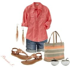 Casual Summer!! going to the market or going shopping so nice and put together!