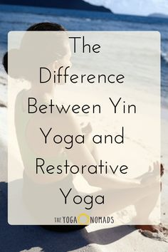 The Difference Between Yin Yoga and Restorative Yoga. People don't know that Yin Yoga and Restorative Yoga aren't the same thing.Read more to see the differences between the two styles of yoga and for you to check which style may be best for you. Kundalini Yoga, Ashtanga Yoga, Pranayama, Reiki Meditation, Yoga Bewegungen, Yoga Flow, Yoga Fitness, Restorative Yoga Poses, Yin Yoga Poses