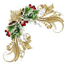 Christmas Holly Corner Png