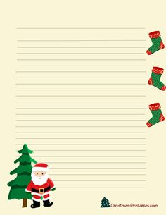 This is another cute stationery design which is perfect for writing a letter to Santa. Description from christmas-printables.com. I searched for this on bing.com/images