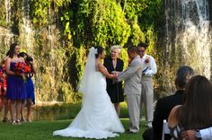 The Waterfall Wedding at Canyon Springs Golf Club. Love is in the air <3