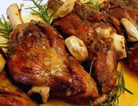 Slow-Roasted Rosemary Garlic Lamb Shanks Recipe...This is delicious!! ♥ Even Andy like this!