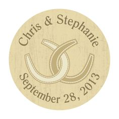 Personalized Rustic Western Wedding Envelope Seals - OrientalTrading.com Can you these to seal the envelopes and the horsehoe for good luck