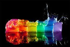 Rainbow Of Ice Cubes
