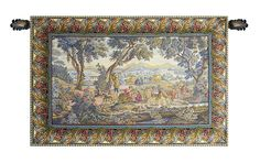 The Hunting Trip Italian Wall Tapestry