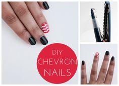 DIY Chevron Nail Tutorial #chevronnail #chevrontutorial #nails #nailtutorial