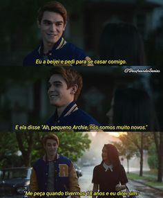 Haha Betty e Archie só amigos ☺ Ouat, Riverdale Memes, Riverdale Cw, Dc Legends Of Tomorrow, Best Youtubers, Film Serie, Series Movies, Pretty Little Liars, Archie