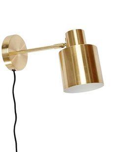 Die moderne Wandleuchte aus  Metall von HÜBSCH Interior gibt es in zwei Farben. Jetzt Bestellen ✓ Große Auswahl ✓ Online-Shop ✓