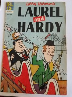 Laurel and Hardy #4 Comic Book Last Issue 1963 Stan & Ollie Roller Coaster