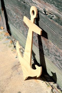 Unfinished Wooden Anchor DIY Anchor by embellishboutiquellc