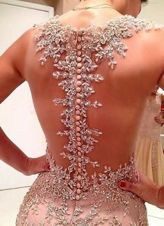 Wedding dress back details By Isabella Narchi