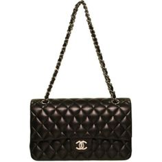 classic quilted black lambskin chanel bag